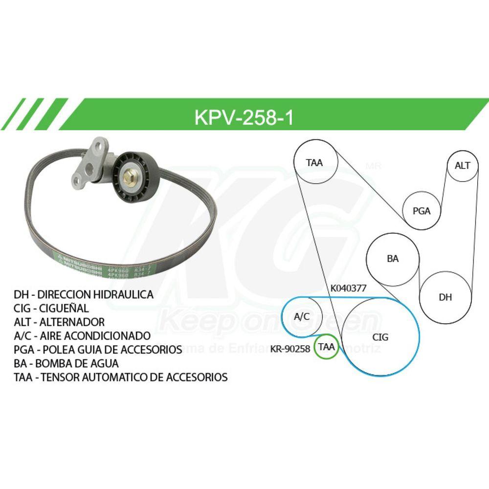Kit de accesorio chevrolet express 2500 2003 2008 mr4 kpv 258 1 undefined